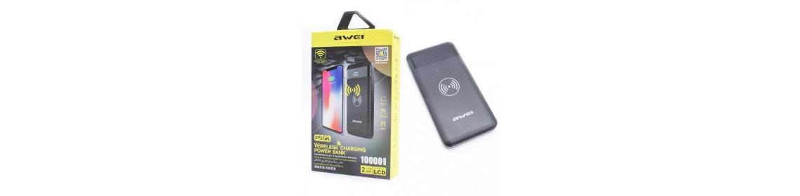 Внешний аккумулятор 10000мАч с беспроводной зарядкой Awei P55K